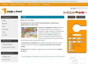 Made in Hotel è un sistema di prenotazione on-line con conferma immediata