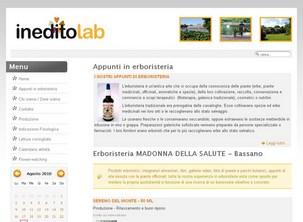 Sito internet dell'Erboristeria Madonna della Salute di Bassano