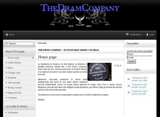 Appassionato di Whisky? The Dram Company, il sito web per te