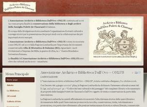 Sito web dell'Associazione Archivio e Biblioteca Dall'Ovo – ONLUS