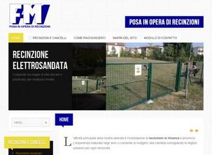 Sito internet per l'azienda di installazione recinzioni