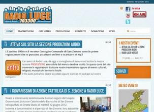 Sito internet di Radio Luce Treviso - San Zenone, emittente radio cattolica