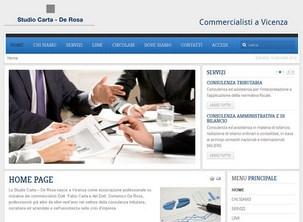 Il sito internet a Vicenza dello Studio Carta - De Rosa | Commercialisti a Vicenza