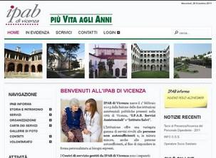 Sito dell'IPAB di Vicenza, residenze per anziani del comune