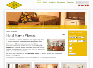 Sito web dell'Hotel Mary a Vicenza