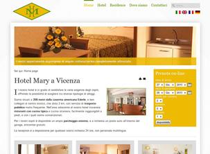Sito web dell'Hotel Mary a Vicenza