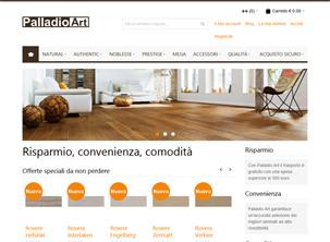 Palladio Art: sito di vendita on-line di pavimento in laminato