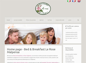 B&B Le Rose: sito web bed & breakfast