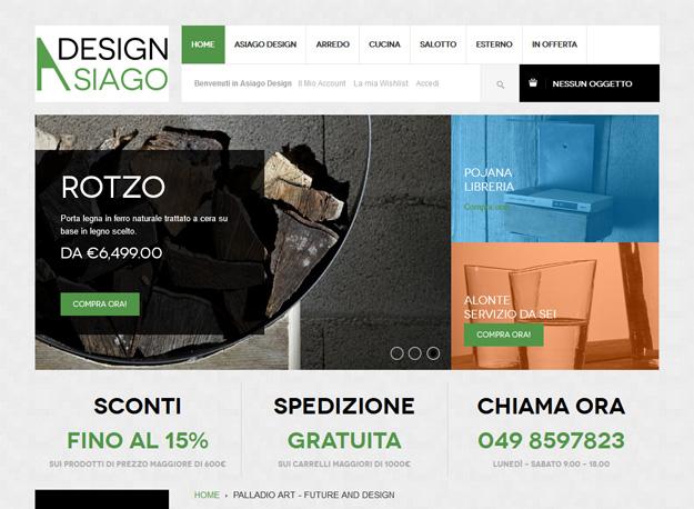 Asiago Design: il sito e-commerce per l'arredamento