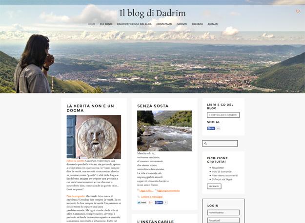 Il blog di Dadrim: un sito web per condividere idee e pensieri