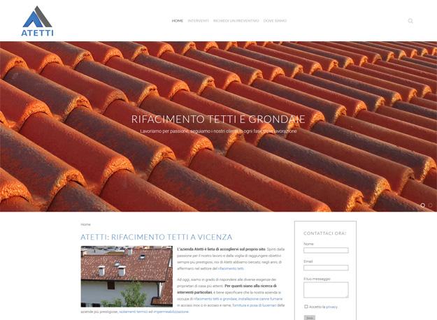 Atetti: sito web rifacimento tetti a Vicenza