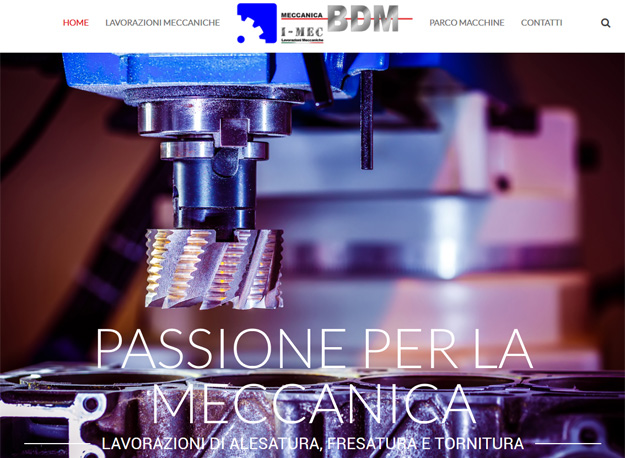 Un sito web efficace e accattivante per Meccanica BDM