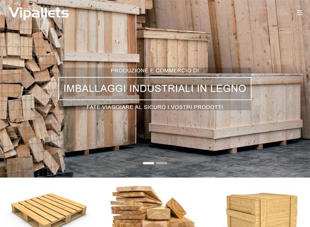 Sito web Vipallets imballaggi in legno