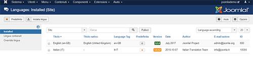La gestione del multilingua in Joomla