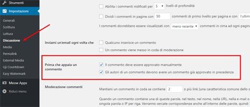 Commenti di WordPress