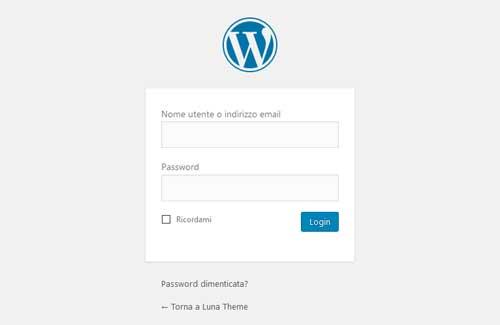 Accesso a WordPress